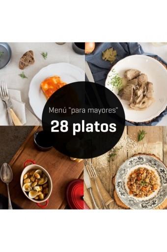 MENÚ PARA MAYORES 28 PLATOS